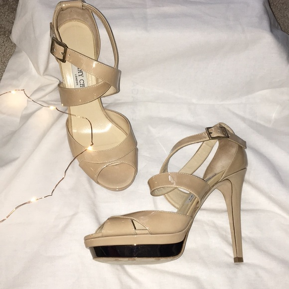 bf5f69a77c9f Nude Jimmy Choo heels from Neiman Marcus